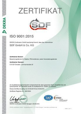 Zertifikat ISO 9001 deutsch